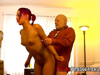 It seems slender redhead with small tits Zoe Zebra can ride dick all day long