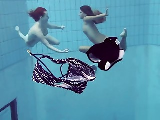 Katrin and Lucy obese tits underwater
