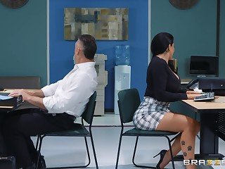 sexy secretary Romi Rain adores hard fuck approximately her additional almost her office