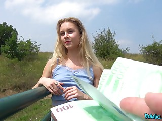 Outside sex and a blowjob are amazing with horny blonde Alecia Wicked one