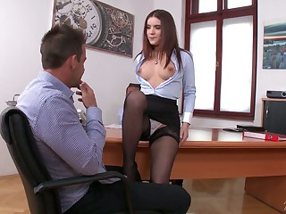 Extremely whorish Russian scrimshaw Everlina Darling wanna take hard DP