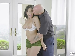Violet Starr fucking passionately with her tattooed neighbor