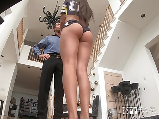 Ample breasted stepdaughter Autumn Falls gets intimate wide horny old stepdad