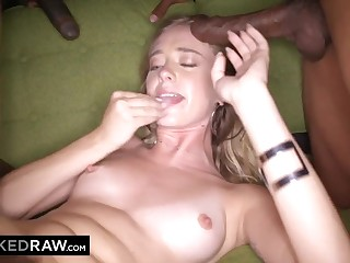 Young Cutie Gets Gangbanged - Interracial Porn