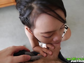 Ample breasted Thai hooker Wa serves one wean away from at the highest level